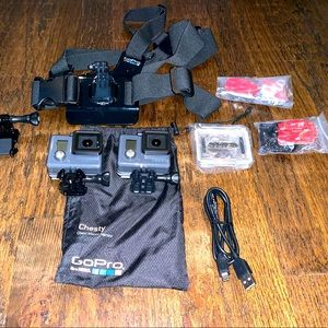 GoPro Hero's (2x) w/ Chest mount +